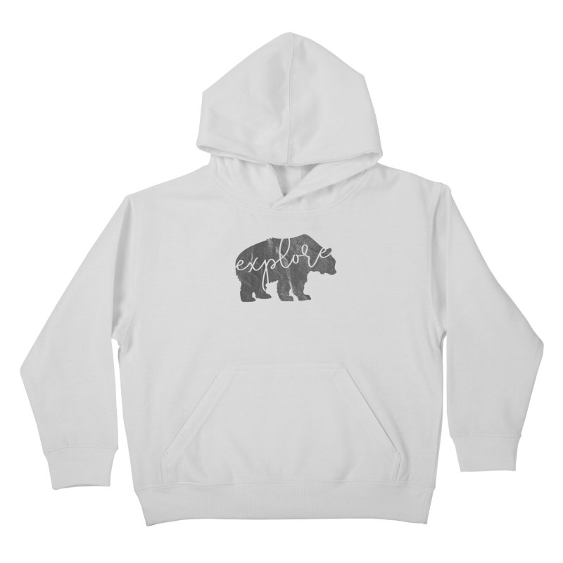 Explore Bear Kids Pullover Hoody by Red Pixel Studios