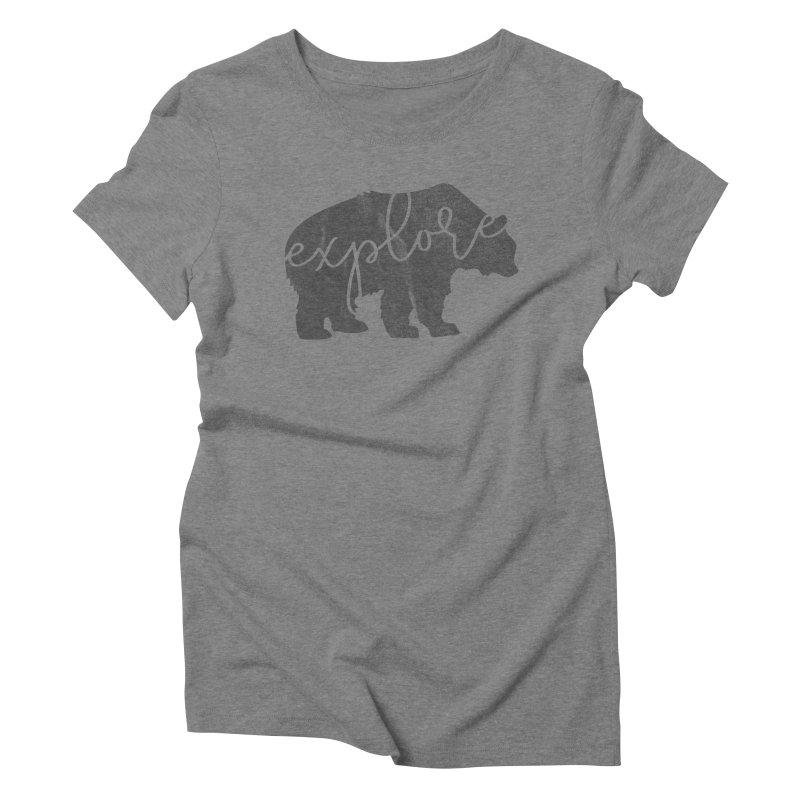Explore Bear Women's Triblend T-Shirt by Red Pixel Studios