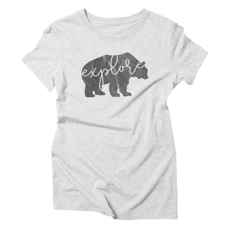 Explore Bear Women's T-Shirt by Red Pixel Studios