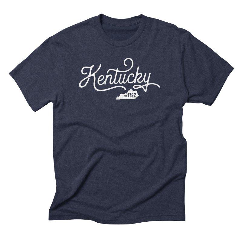 Kentucky 1792 in Men's Triblend T-Shirt Navy by Red Pixel Studios