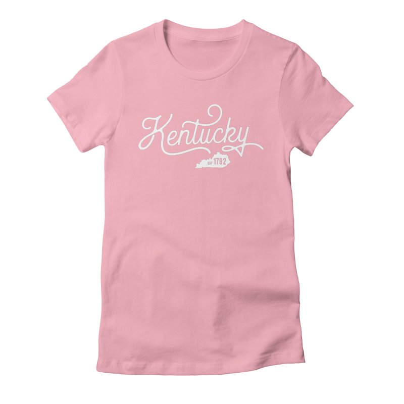 Kentucky 1792 Women's Fitted T-Shirt by Red Pixel Studios