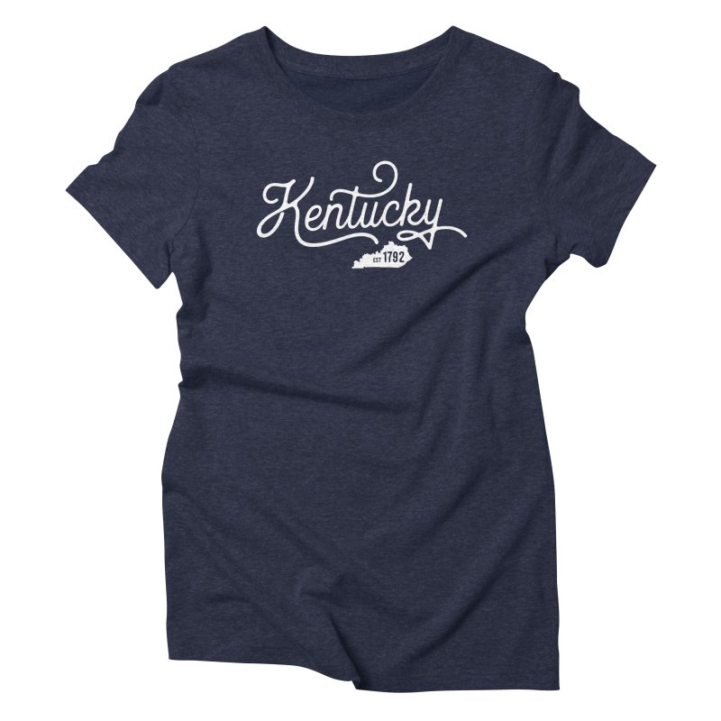 Kentucky 1792 in Women's Triblend T-Shirt Navy by Red Pixel Studios