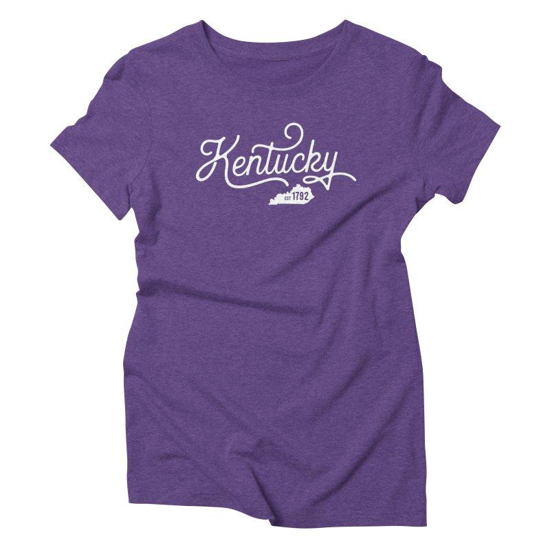 Kentucky 1792 Women's Triblend T-Shirt by Red Pixel Studios
