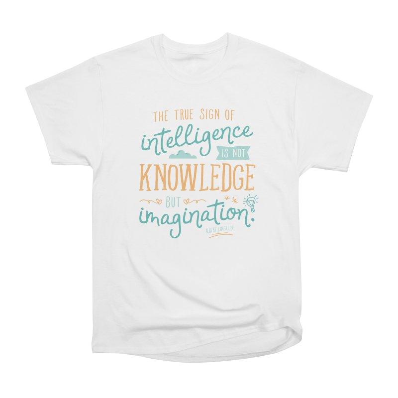 True Sign of Intelligence Men's Heavyweight T-Shirt by Red Pixel Studios