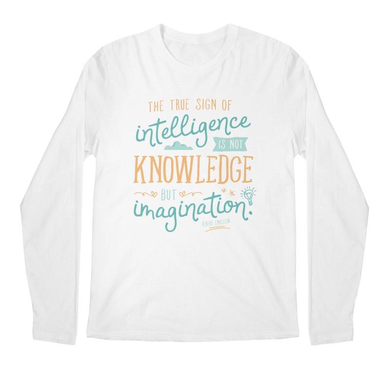 True Sign of Intelligence Men's Regular Longsleeve T-Shirt by Red Pixel Studios