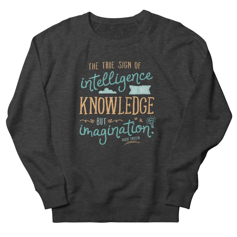 True Sign of Intelligence Men's French Terry Sweatshirt by Red Pixel Studios