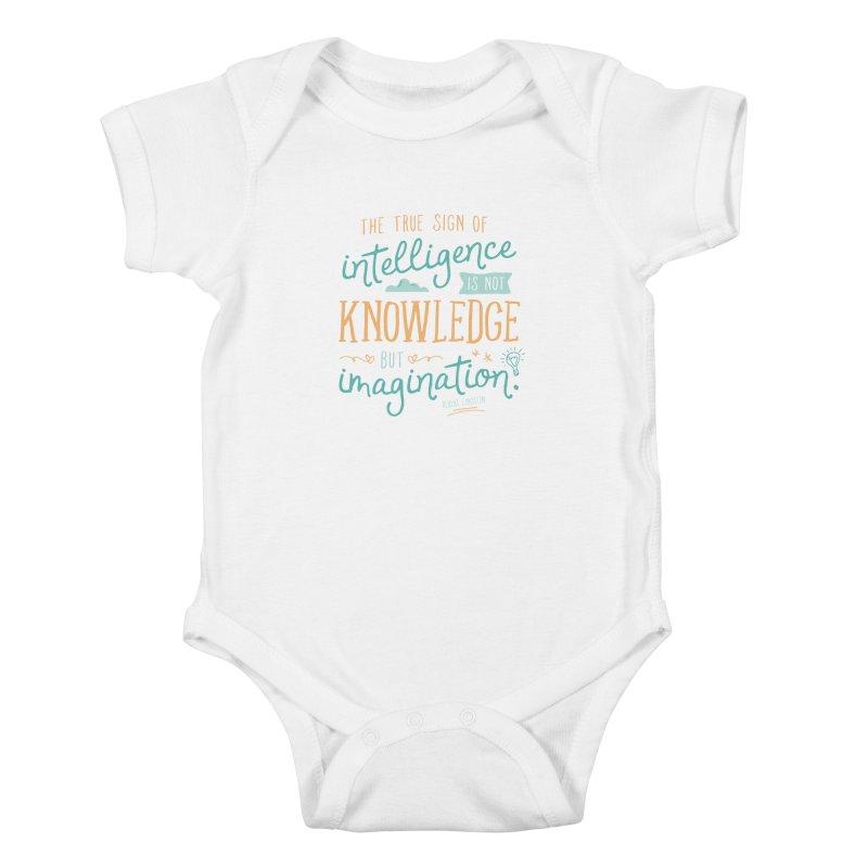 True Sign of Intelligence Kids Baby Bodysuit by Red Pixel Studios