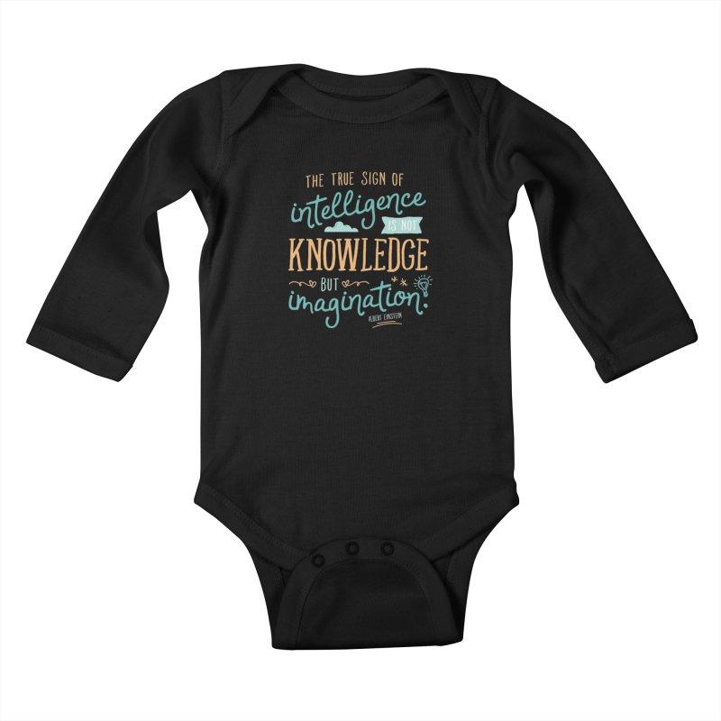 True Sign of Intelligence Kids Baby Longsleeve Bodysuit by Red Pixel Studios