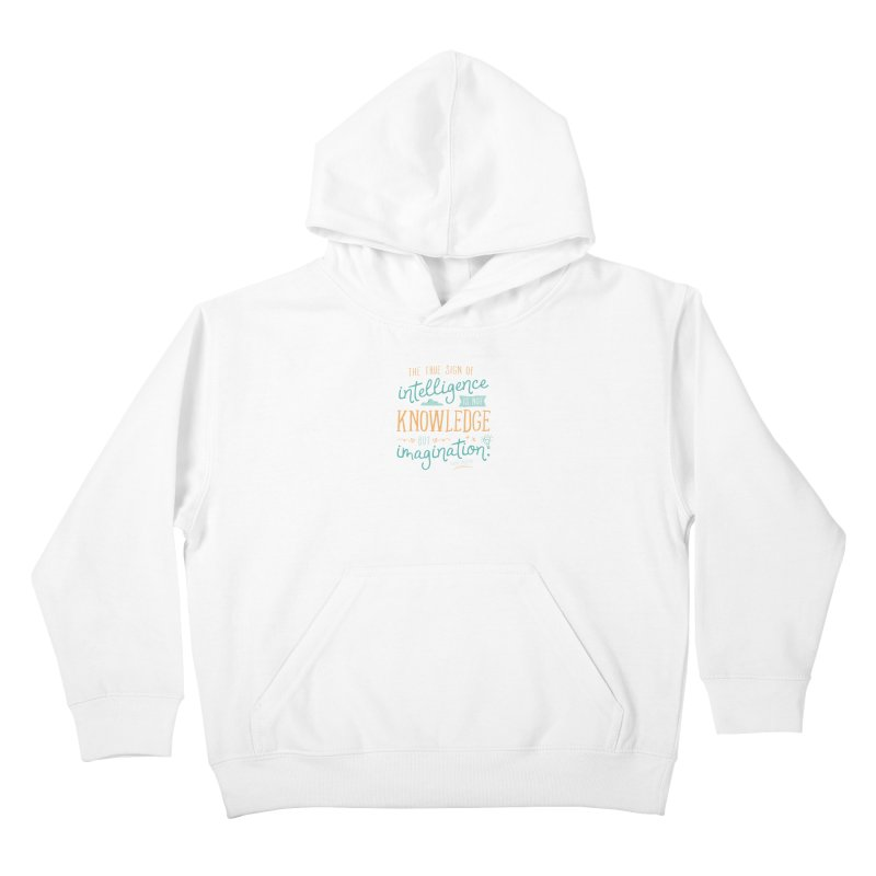 True Sign of Intelligence Kids Pullover Hoody by Red Pixel Studios