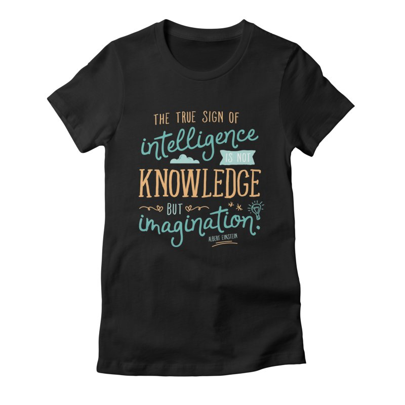 True Sign of Intelligence Women's Fitted T-Shirt by Red Pixel Studios