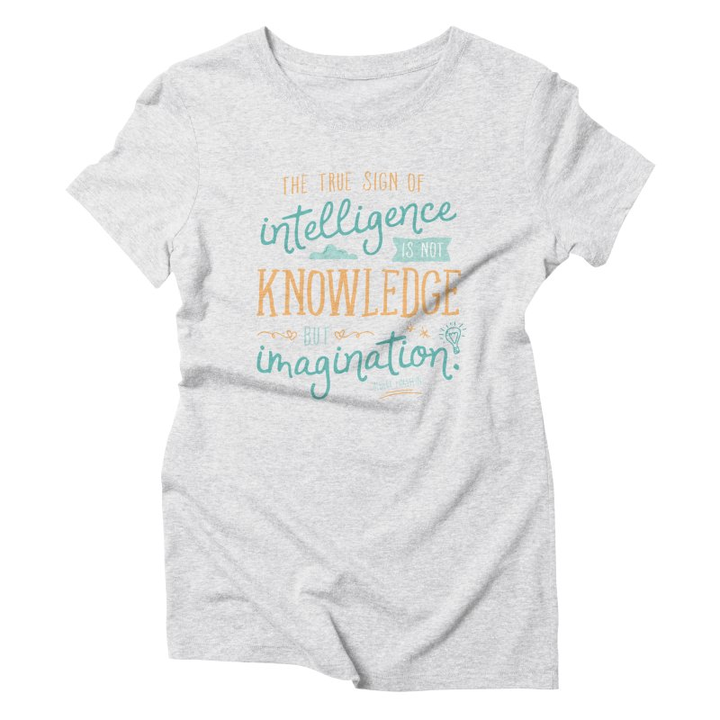 True Sign of Intelligence Women's Triblend T-Shirt by Red Pixel Studios