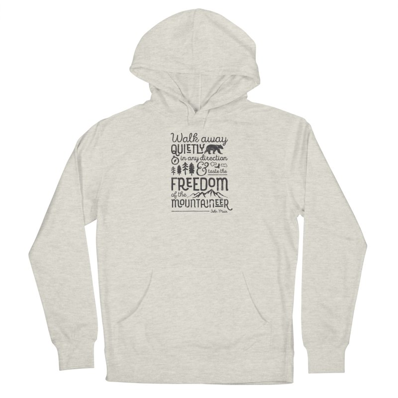 Freedom of the Mountaineer Men's Pullover Hoody by Red Pixel Studios