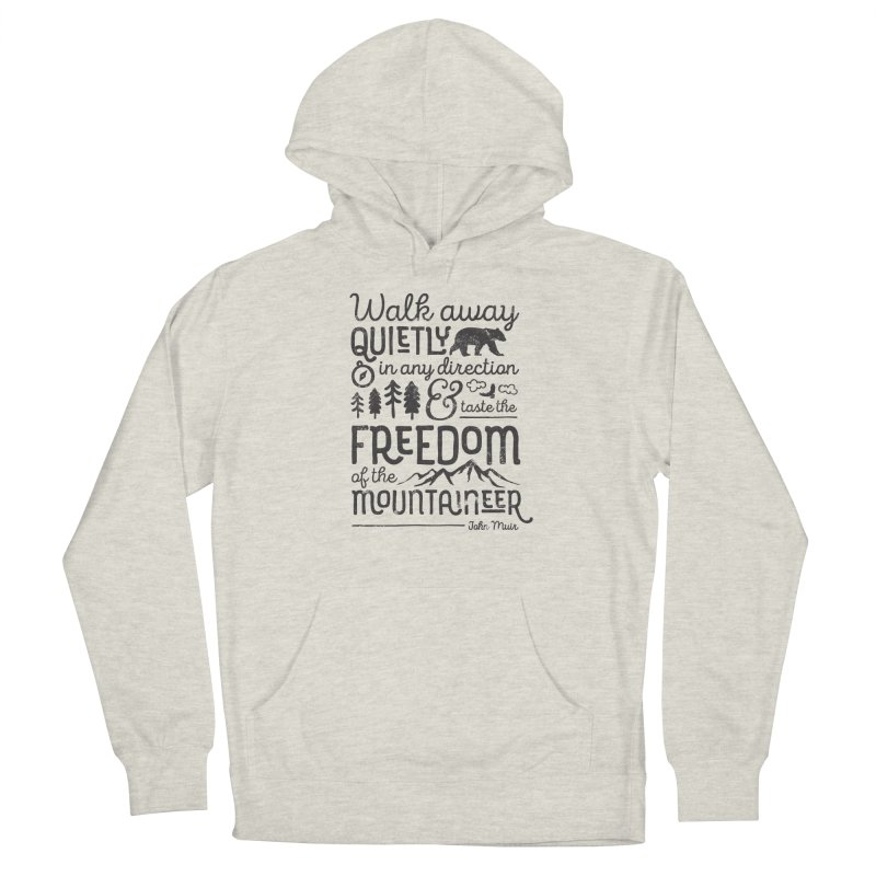 Freedom of the Mountaineer Men's French Terry Pullover Hoody by Red Pixel Studios