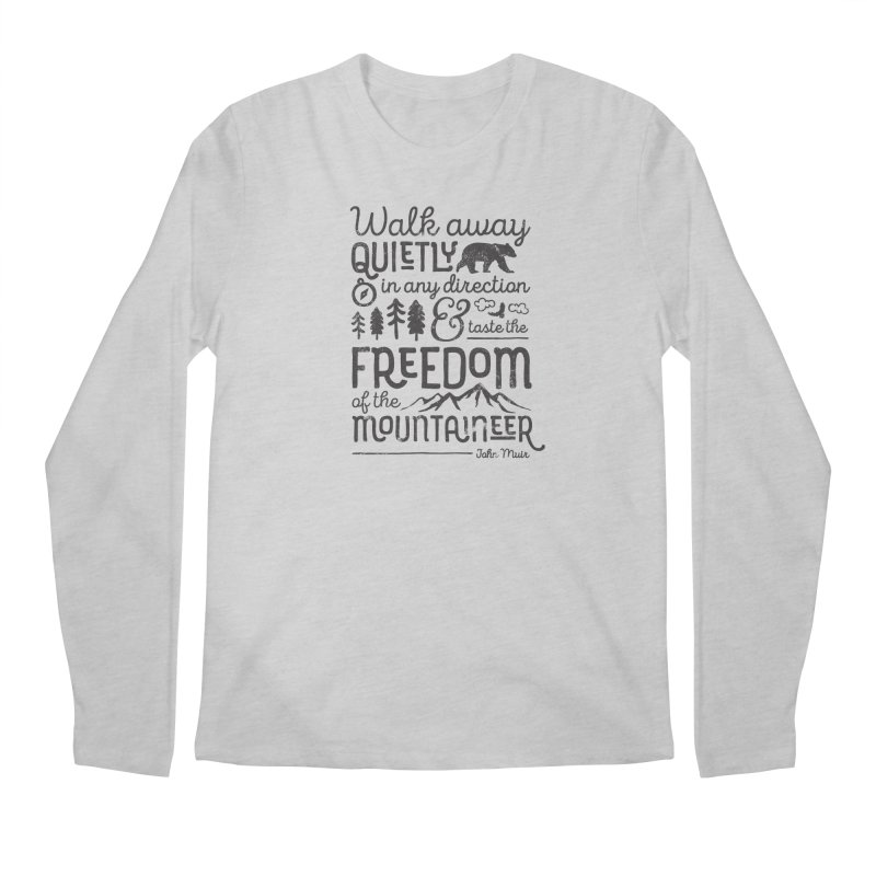 Freedom of the Mountaineer Men's Regular Longsleeve T-Shirt by Red Pixel Studios