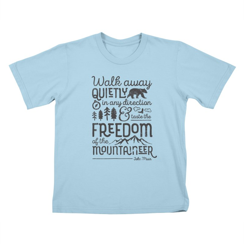Freedom of the Mountaineer Kids T-Shirt by Red Pixel Studios