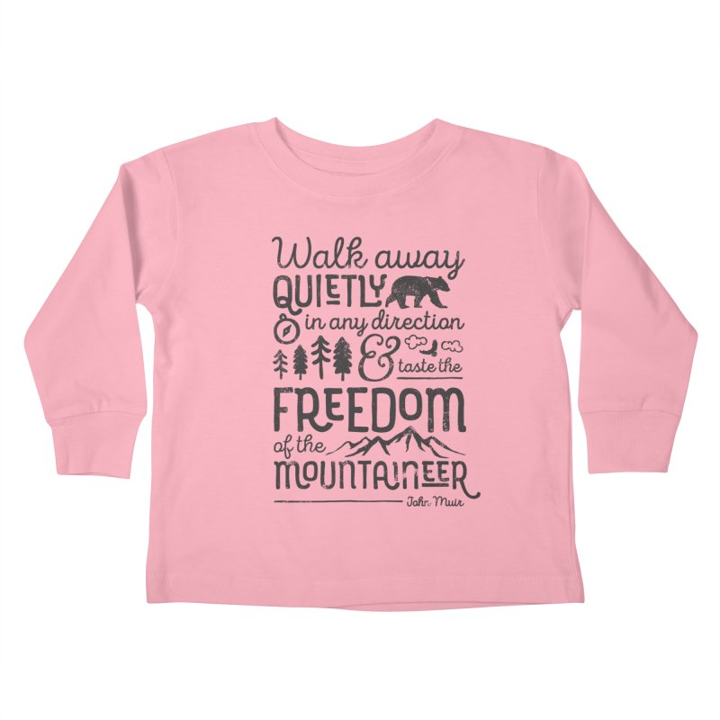Freedom of the Mountaineer Kids Toddler Longsleeve T-Shirt by Red Pixel Studios