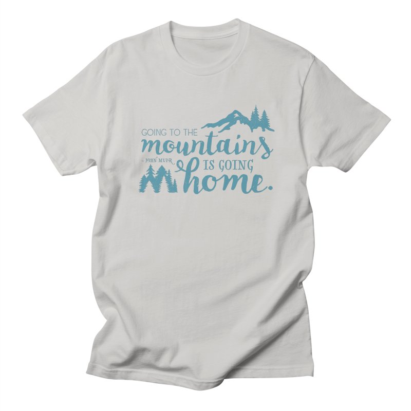 Going to the Mountains Men's T-Shirt by Red Pixel Studios