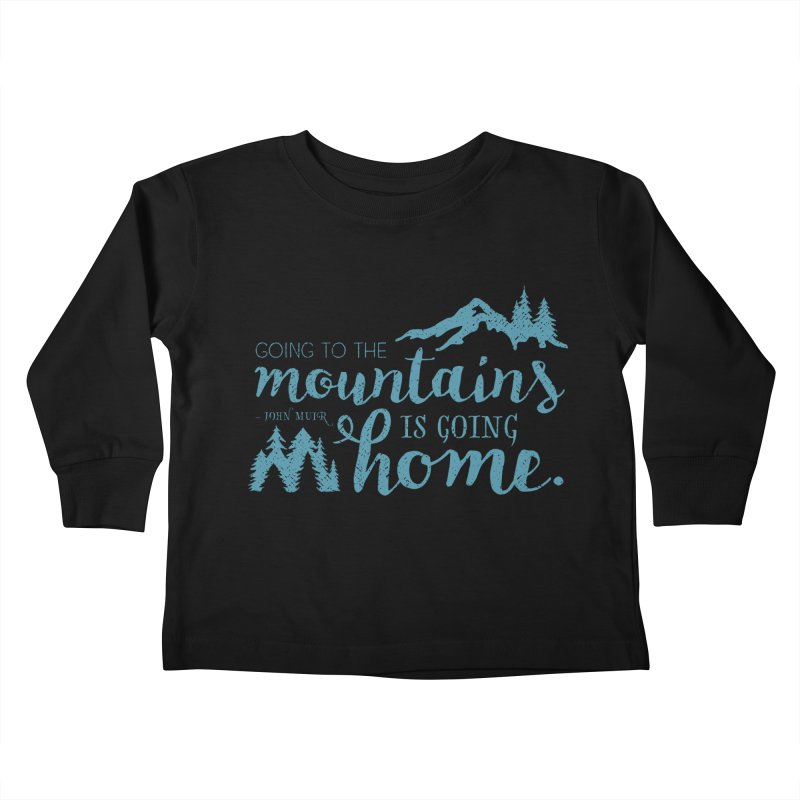 Going to the Mountains Kids Toddler Longsleeve T-Shirt by Red Pixel Studios