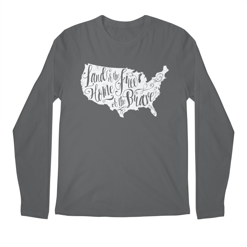 Land of the Free Men's Longsleeve T-Shirt by Red Pixel Studios