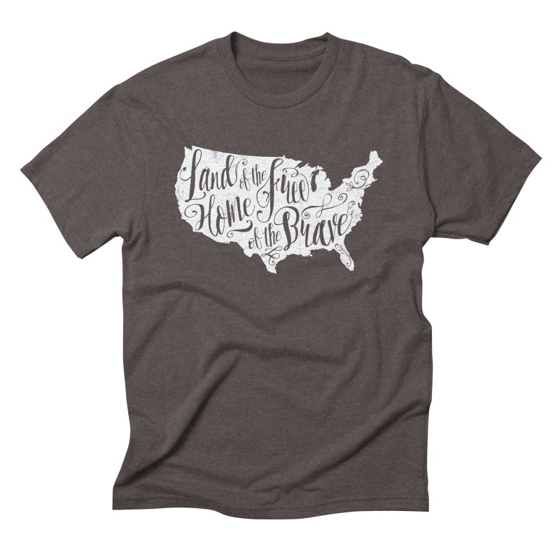 Land of the Free Men's T-Shirt by Red Pixel Studios