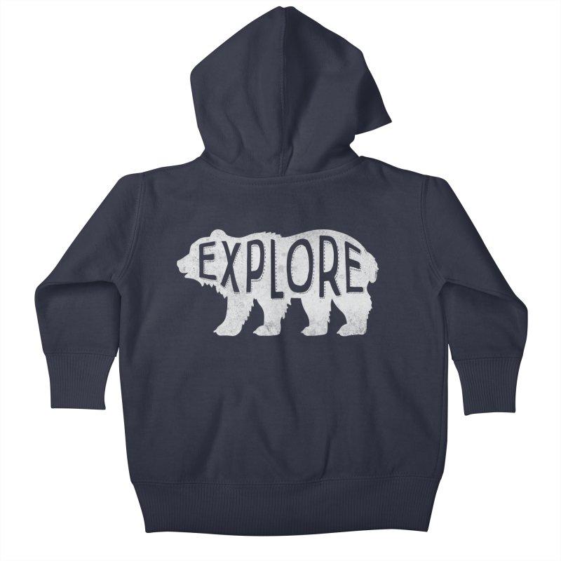 Explore Kids Baby Zip-Up Hoody by Red Pixel Studios