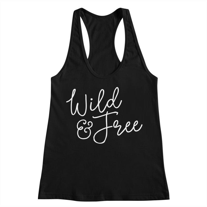Wild & Free Women's Racerback Tank by Red Pixel Studios