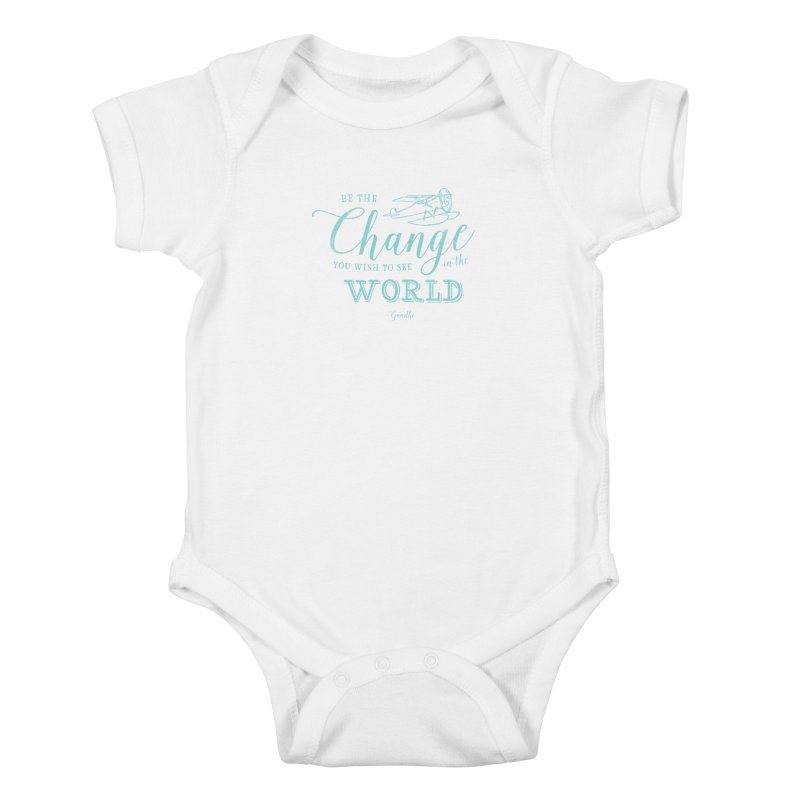 Be the Change Kids Baby Bodysuit by Red Pixel Studios