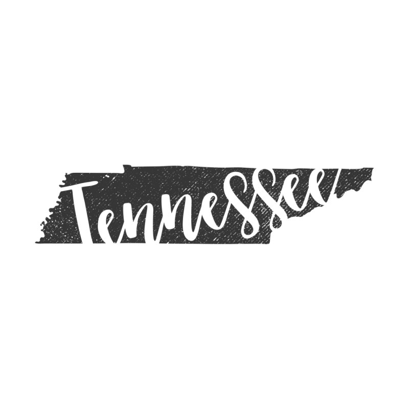 Tennessee Script Map - In Gray Women's T-Shirt by Red Pixel Studios