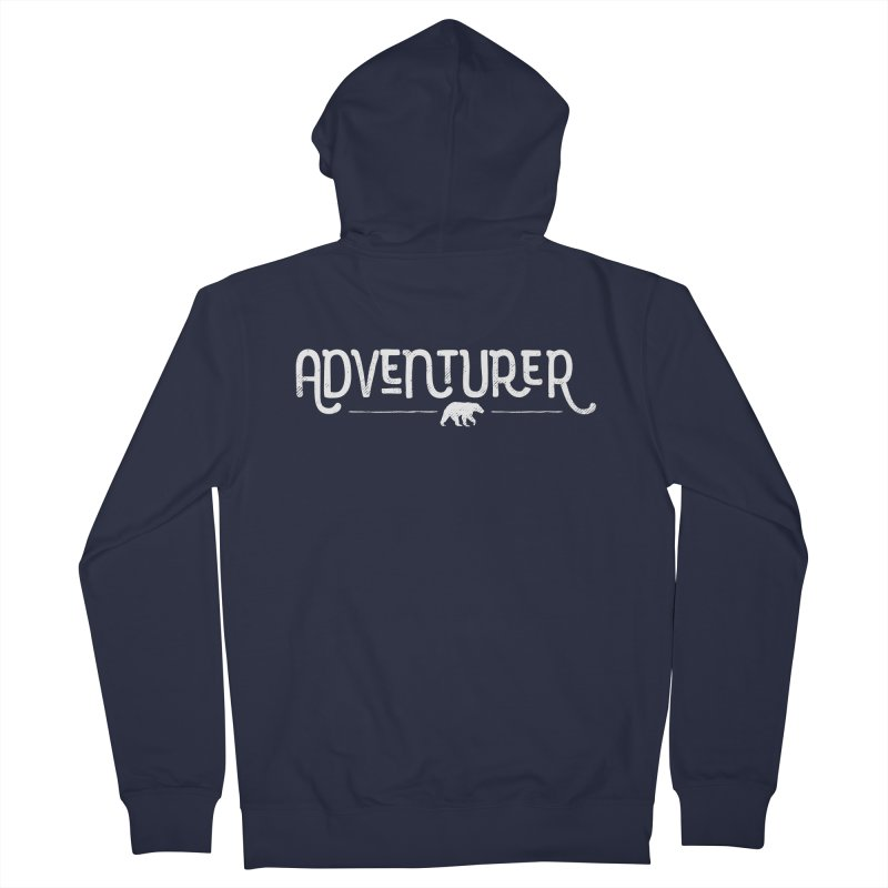 Adventurer - In White Women's French Terry Zip-Up Hoody by Red Pixel Studios