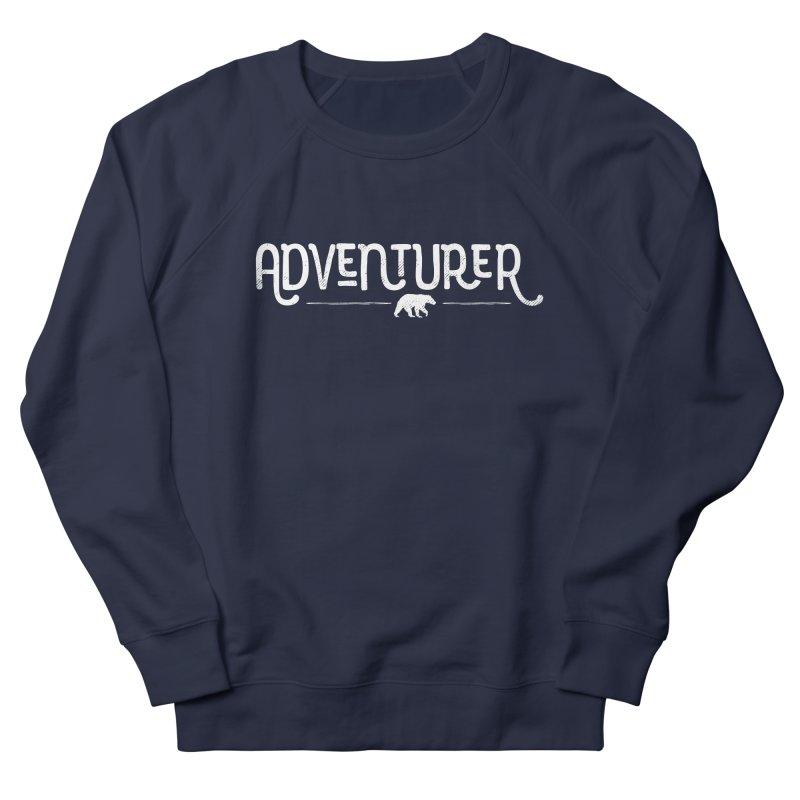 Adventurer - In White Women's French Terry Sweatshirt by Red Pixel Studios