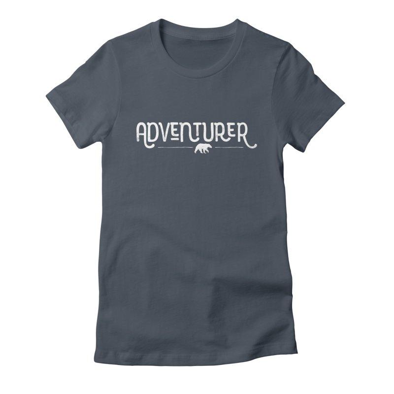 Adventurer - In White Women's T-Shirt by Red Pixel Studios