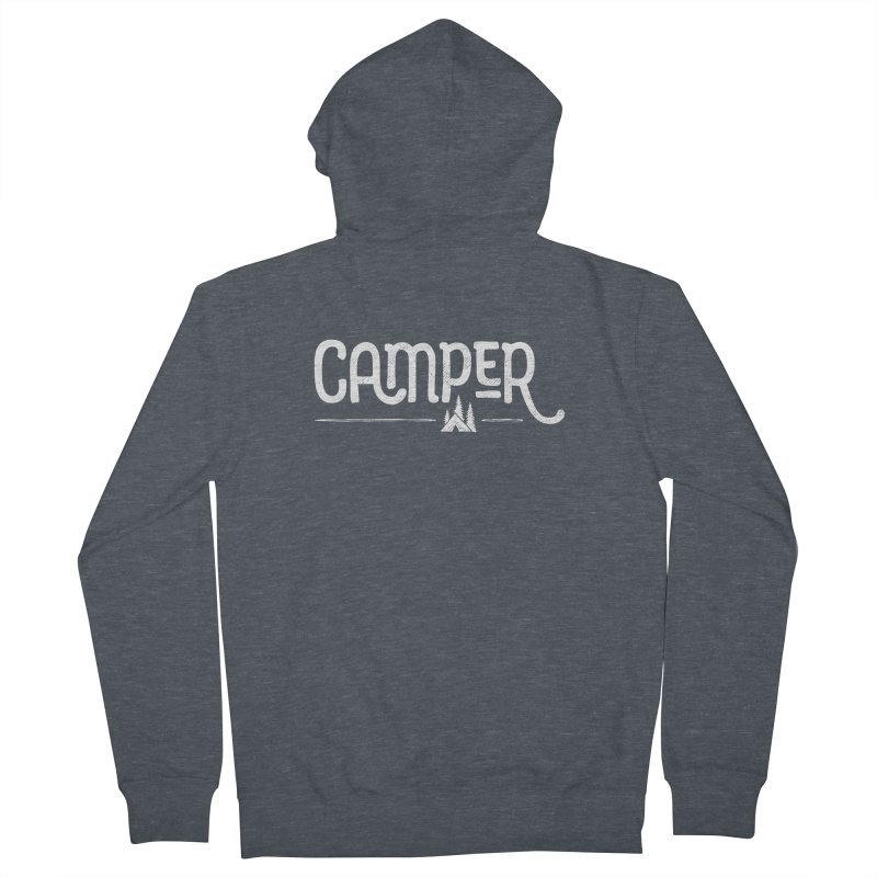 Camper - In White Men's Zip-Up Hoody by Red Pixel Studios