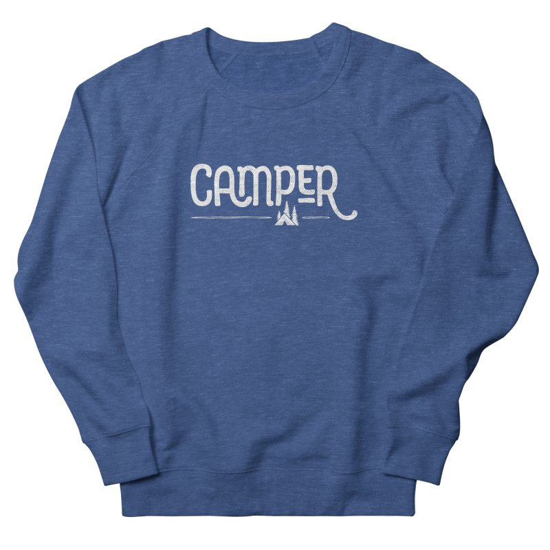 Camper - In White Men's French Terry Sweatshirt by Red Pixel Studios
