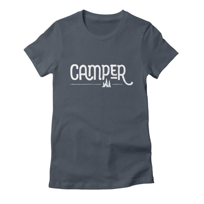 Camper - In White Women's T-Shirt by Red Pixel Studios