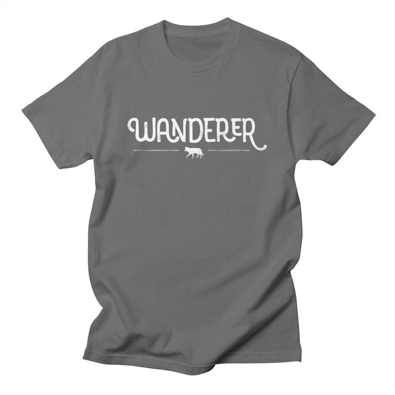 Wanderer - In White Men's T-Shirt by Red Pixel Studios