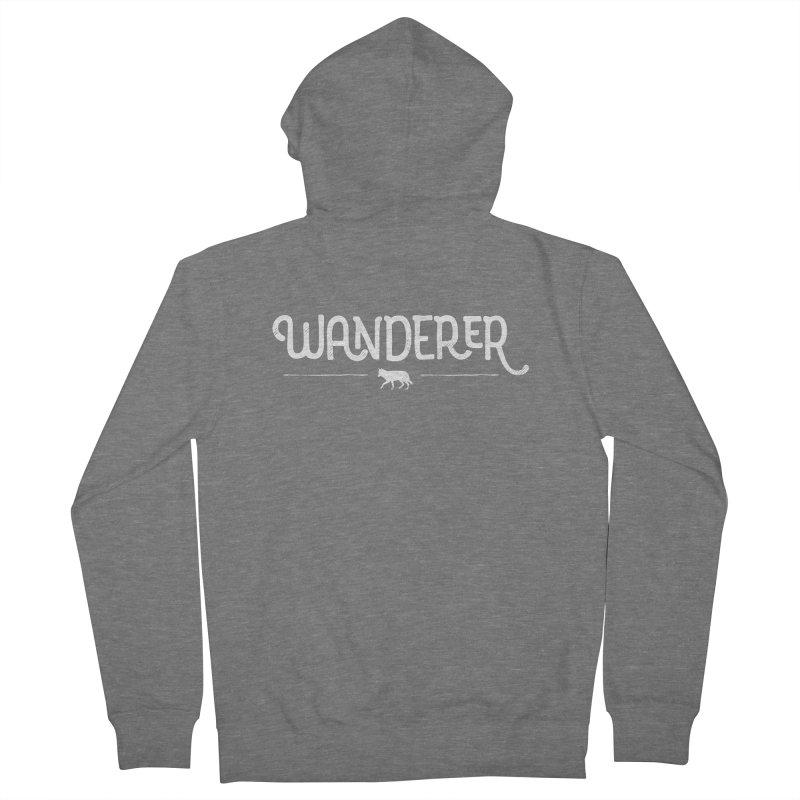 Wanderer - In White Men's Zip-Up Hoody by Red Pixel Studios