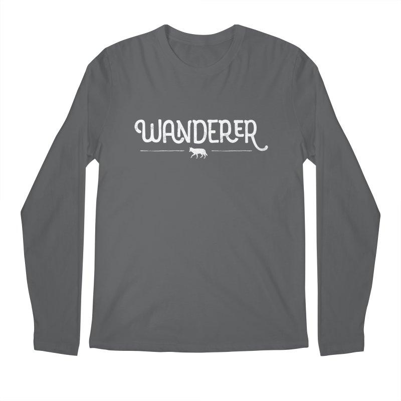 Wanderer - In White Men's Longsleeve T-Shirt by Red Pixel Studios