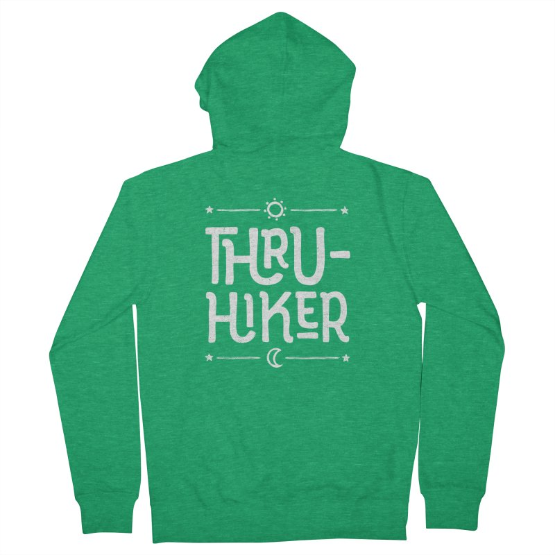Thru-Hiker - In White Women's Zip-Up Hoody by Red Pixel Studios