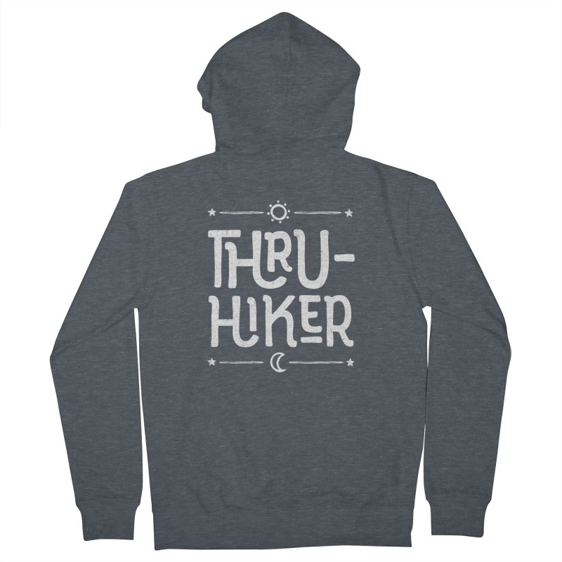 Thru-Hiker - In White Women's French Terry Zip-Up Hoody by Red Pixel Studios