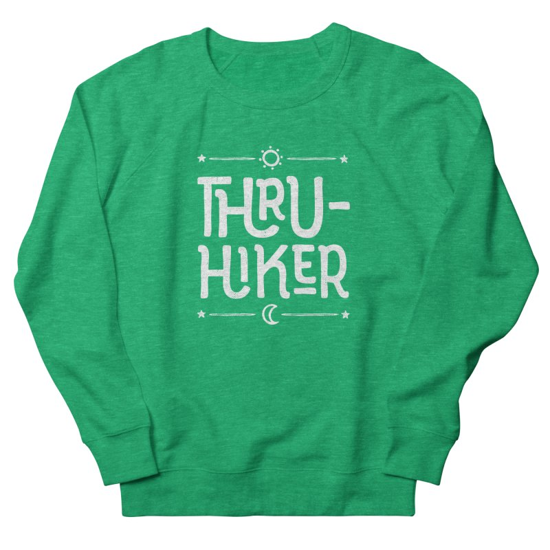 Thru-Hiker - In White Women's Sweatshirt by Red Pixel Studios