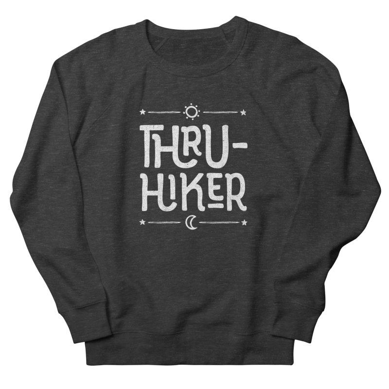Thru-Hiker - In White Women's French Terry Sweatshirt by Red Pixel Studios