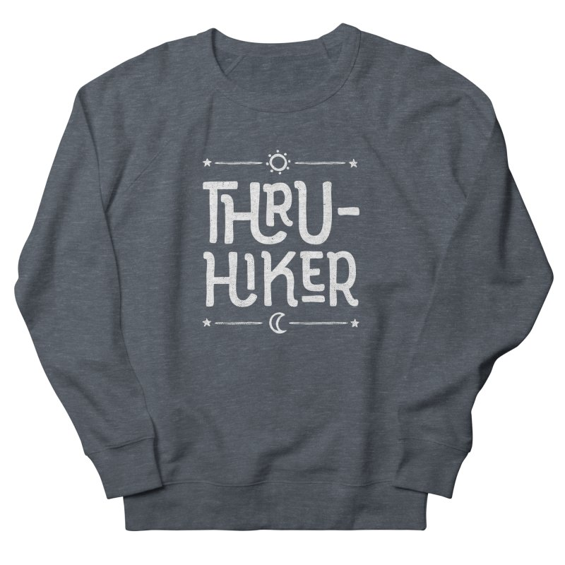 Thru-Hiker - In White Men's French Terry Sweatshirt by Red Pixel Studios