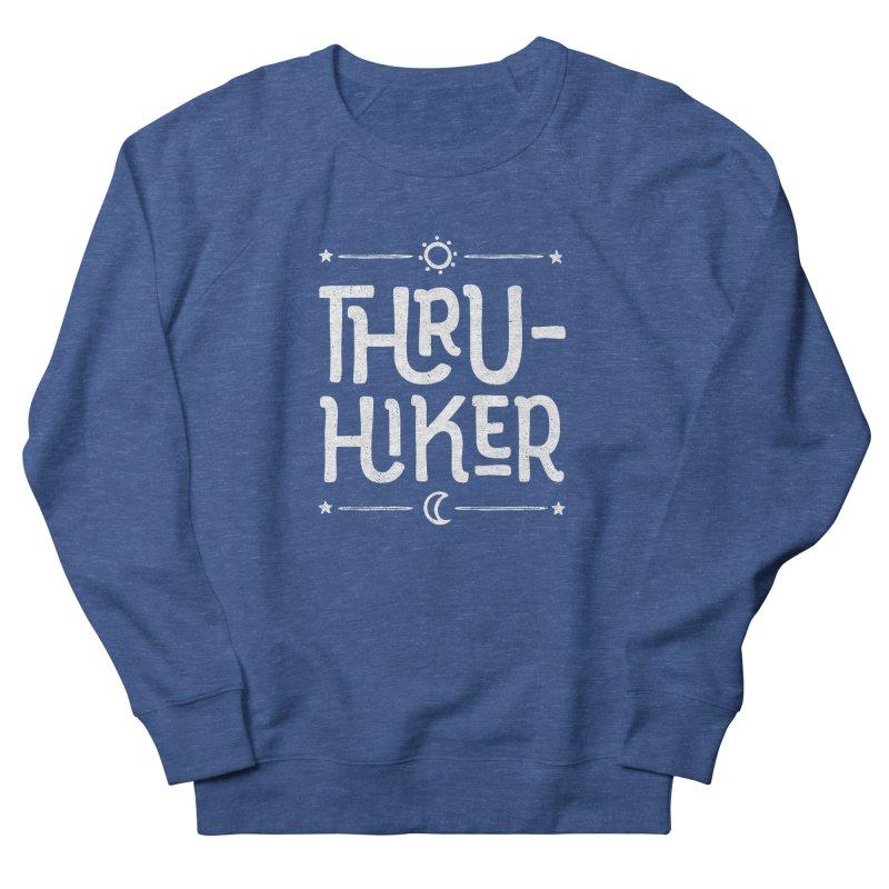 Thru-Hiker - In White Men's Sweatshirt by Red Pixel Studios