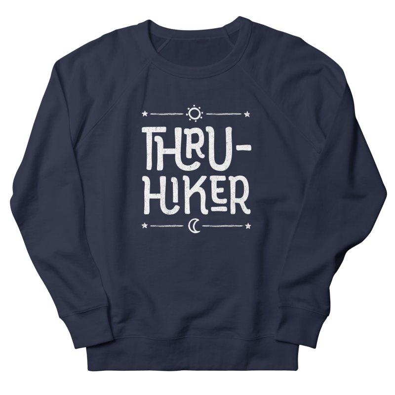 Thru-Hiker - In White Men's French Terry Sweatshirt by Red Pixel Studios