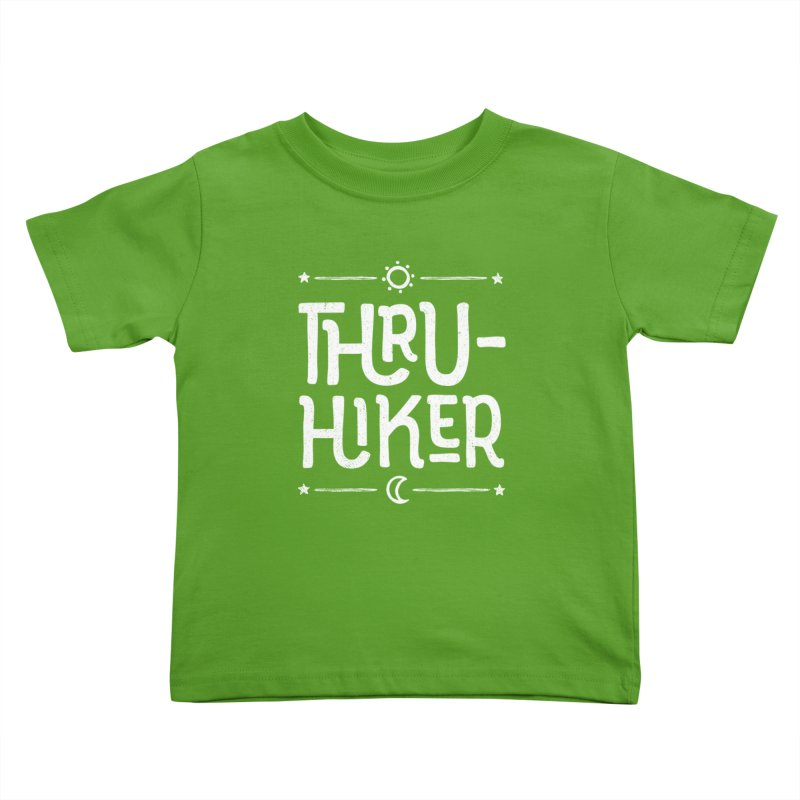 Thru-Hiker - In White Kids Toddler T-Shirt by Red Pixel Studios