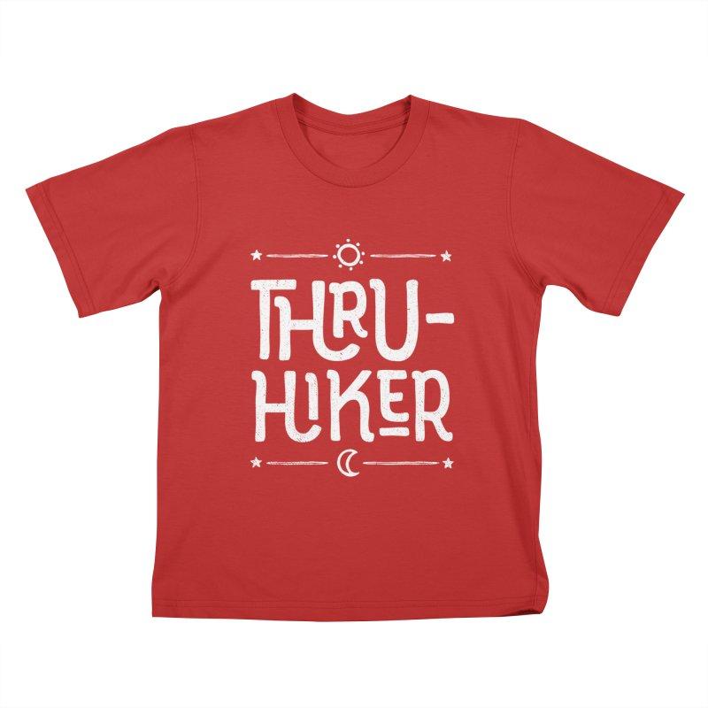 Thru-Hiker - In White Kids T-Shirt by Red Pixel Studios