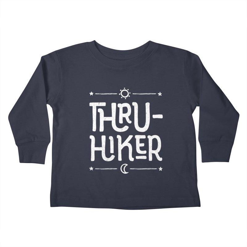 Thru-Hiker - In White Kids Toddler Longsleeve T-Shirt by Red Pixel Studios