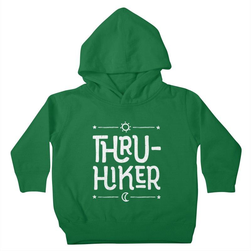 Thru-Hiker - In White Kids Toddler Pullover Hoody by Red Pixel Studios