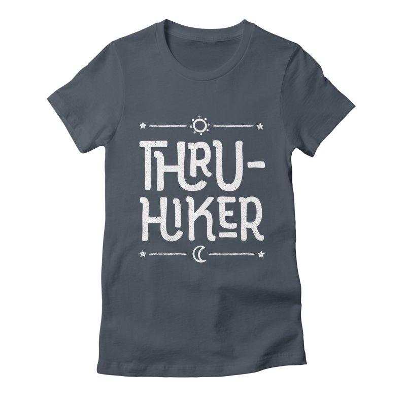 Thru-Hiker - In White Women's T-Shirt by Red Pixel Studios