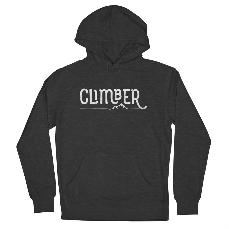 Climber - In White Women's French Terry Pullover Hoody by Red Pixel Studios